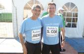 Jose Carlos Jaénes y Sebastian Coe. campeón Olímpico de 1.500 m.l. (Punta Umbría, 2011. Celebrity Race previa al Campeonato del Mundo de Cross).