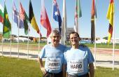 Jose Carlos Jaénes y Mariano Haro. Cuatro veces subcampeón del Cross de las Naciones. el mejor corredor de cross de todos los tiempos en España) (Punta Umbría, 2011. Celebrity Race previa al Campeonato del Mundo de Cross).